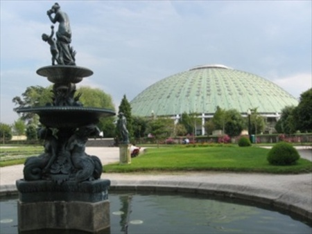 The Crystal Palace and Pavilhao Rosa Mota in Porto
